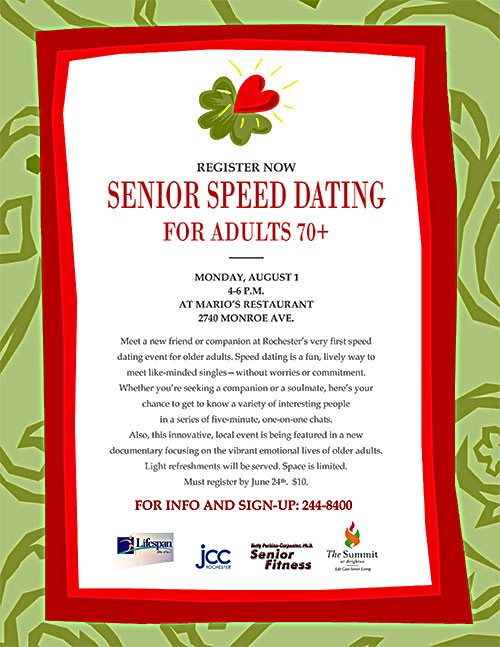 age of love speed dating Where people are actually meeting their partners today are more likely than other age groups to use dating their partner through speed dating.
