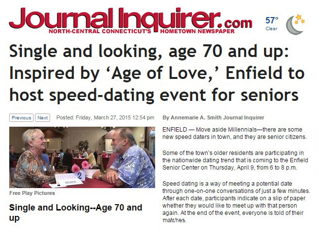 speed dating enfield