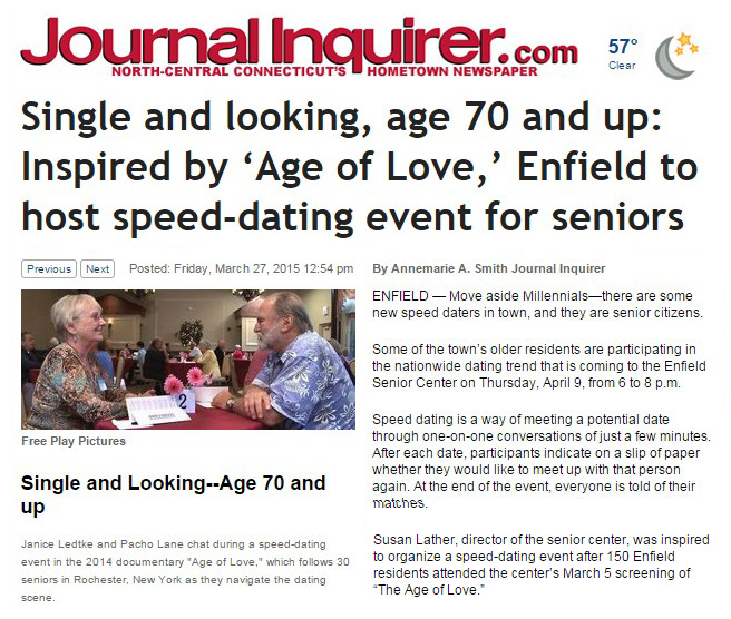 speed dating near enfield Register for our speed dating, singles parties, workshops and other unique  singles events in connecticut and south carolina.