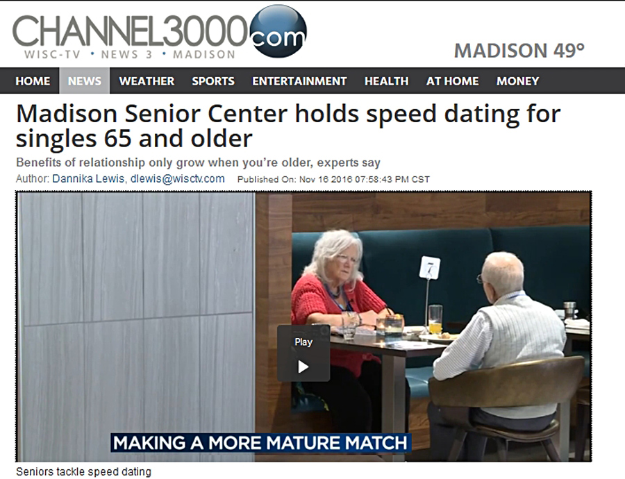 Speed dating for senior citizens